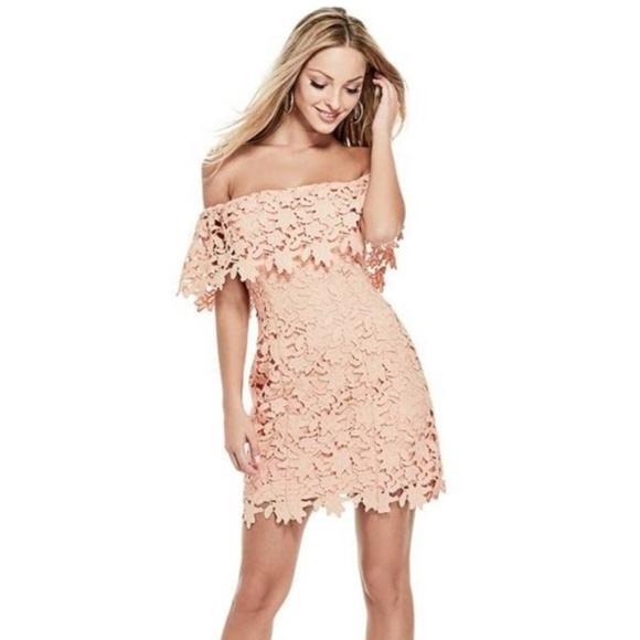 Guess Dresses & Skirts - Guess Lace Dress - Pale Blue